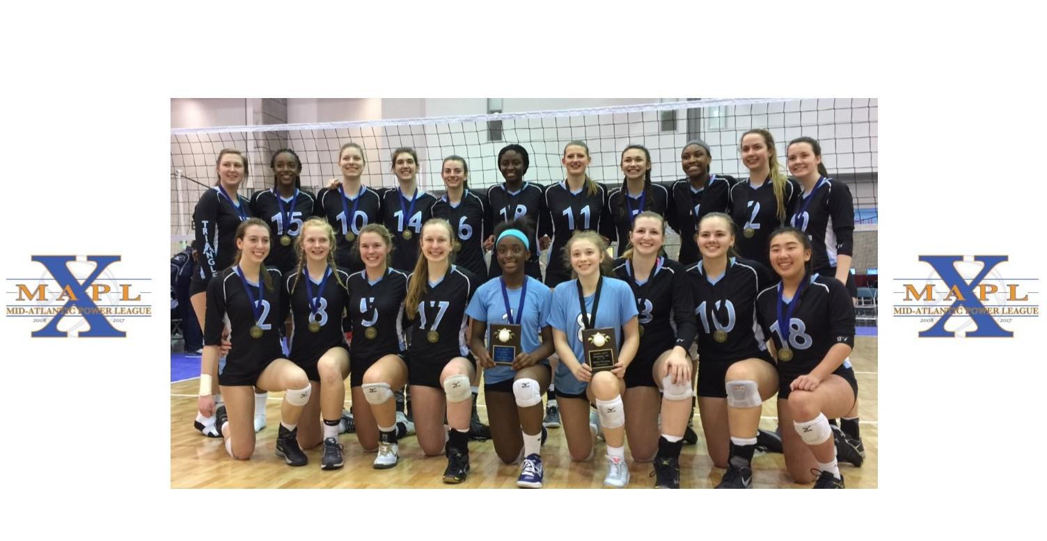 Triangle Grabs Mapl Gold In Both Black And Blue Divisions Triangle Volleyball Club